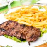 Viande juteuse de boeuf de bifteck Photos stock