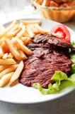 Viande juteuse de boeuf de bifteck Photographie stock