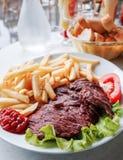 Viande juteuse de boeuf de bifteck Photographie stock libre de droits