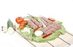 Viande mélangée pour le barbecue Photos stock