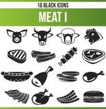 Viande noire I d'ensemble d'icône illustration stock