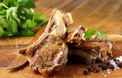 Viande préparée d'agneau photographie stock libre de droits