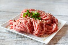 viande proche hachée vers le haut Photo libre de droits