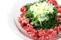viande proche hachée vers le haut Photo stock