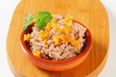 Viande répandue avec le succade orange Photographie stock
