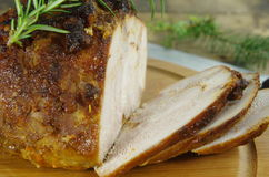 Viande rouge de boeuf de rôti Photographie stock libre de droits