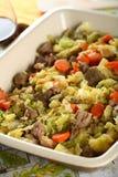 Viande savoureuse avec des légumes image libre de droits