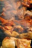 Viande sur l'incendie Photographie stock