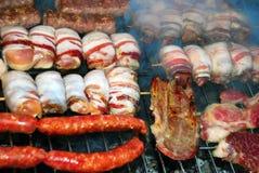 Viande sur le barbecue Images libres de droits