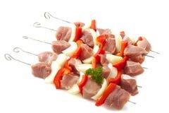 Viande sur le BBQ image stock