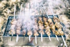 Viande sur le feu Images libres de droits