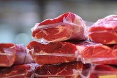 Viande sur le marché Photo stock