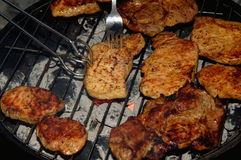 Viande sur un gril Image stock