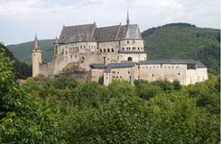 Vianden城堡卢森堡 图库摄影
