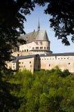 城堡中世纪的卢森堡vianden 免版税库存照片