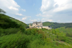 Vianden Castle. Scenic view of Vianden Castle, Oesling, Luxembourg Royalty Free Stock Image