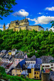 Vianden Castle stock photo