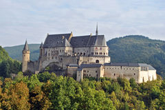 Vianden castle. The impressive castle of Vianden, Luxembourg Stock Images