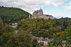 Vianden castle. The impressive castle of Vianden, Luxembourg Royalty Free Stock Photography