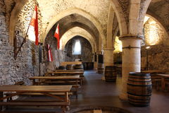 Vianden castle interior -brewery , Luxembourg Stock Images