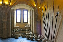 Vianden castle interior, Luxembourg Stock Photo