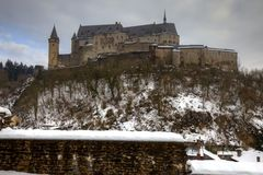 Vianden Castle in Luxembourg Stock Photos