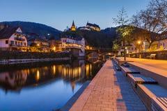 Vianden castle in Luxembourg Stock Image