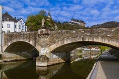 Vianden castle in Luxembourg Stock Photo