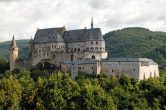 Vianden castle, Luxembourg Stock Images