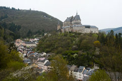Vianden Castle - Luxembourg. Medieval Vianden Castle in Luxembourg Royalty Free Stock Photography