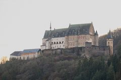 Vianden Castle in Luxembourg stock photography