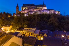 Vianden castle in Luxembourg Royalty Free Stock Images