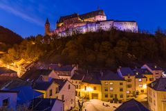 Vianden castle in Luxembourg Royalty Free Stock Photography