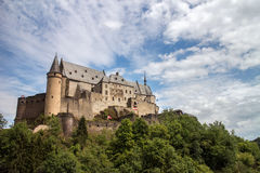 Vianden Castle. Old Vianden Castle in Vianden city, Luxembourg Royalty Free Stock Photo
