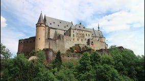 Vianden Castle stock footage