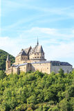 Vianden castle and a small valley Stock Images