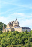 Vianden castle and a small valley Royalty Free Stock Image