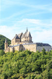 Vianden castle and a small valley Stock Photography