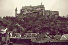 Vianden Castle stock photography