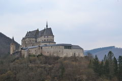 Vianden chateau, Luxembourg Fotografering för Bildbyråer