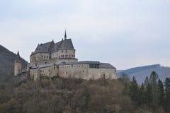 Vianden-Chateau, Luxemburg Stockbild