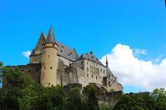 Vianden kasztel, Luksemburg Zdjęcia Royalty Free