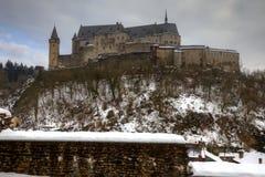 Vianden Schloss in Luxemburg Stockfotos
