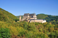 Vianden Schloss in Luxemburg Lizenzfreie Stockfotos