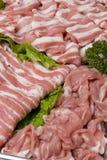 Viandes de porc assorties photos stock