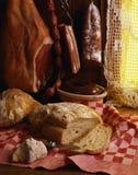 Viandes et pain de porc cuits images libres de droits