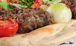 Chiche-kebab de Shish. photographie stock libre de droits