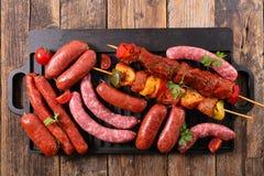 Viandes pour le barbecue Image libre de droits