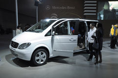 Viano. Mercedes-Benz Viano MPV,made in Fujian, china, in its exhibition hall,in 2010 international Auto-show GuangZhou. it is from 20/12/2010 to 27/12/2010 Stock Photos