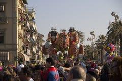 Viareggio狂欢节  库存图片